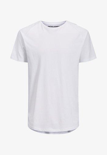 JJECURVED TEE O NECK - T-shirt basique - white