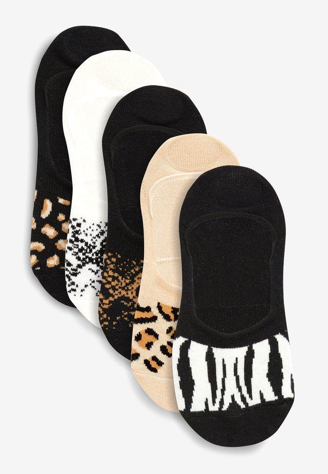 BLACK INVISIBLE TRAINER SOCKS FIVE PACK - Socks - multi-coloured