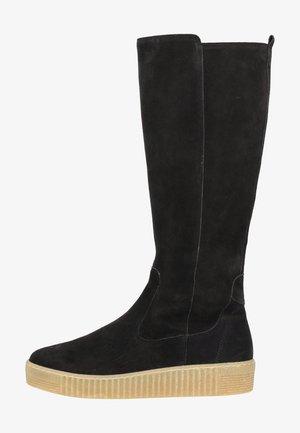 Platform boots - pazifik (natur)