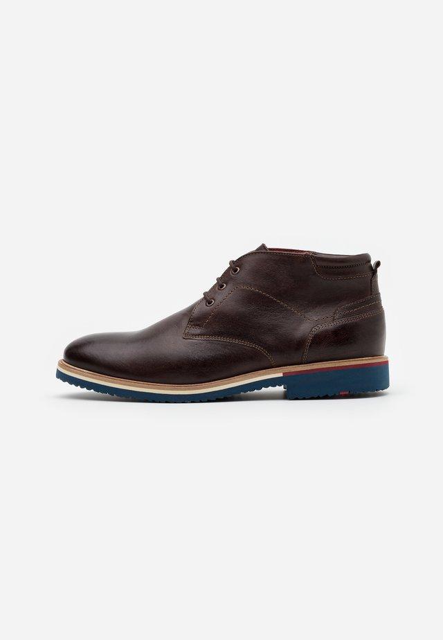 FABIO - Zapatos con cordones - testa di moro/ebony