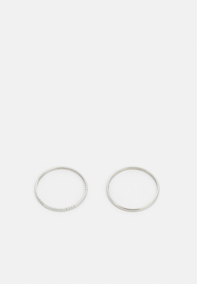 STRAIT UNISEX 2 PACK - Ring - silver-coloured