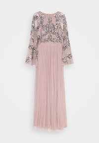 Maya Deluxe - CAPE SLEEVE MAXI DRESS WITH FLORAL EMBELLISHMENT - Ballkjole - frosted pink - 5