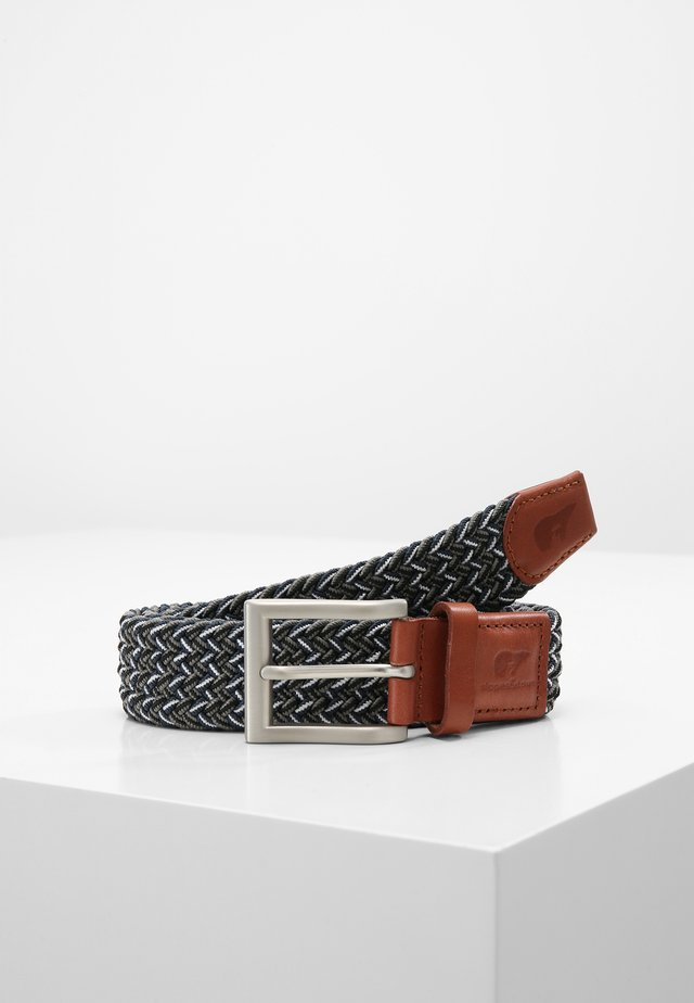 Braided belt - blue/grey