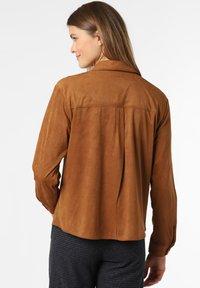 comma - Faux leather jacket - cognac - 1