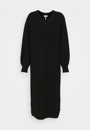 OBJMALENA DRESS - Gebreide jurk - black