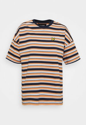 STRIPE - Print T-shirt - ink blue