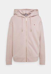 REGULAR ZIP THROUGH HOODIE - Zip-up sweatshirt - balanced beige