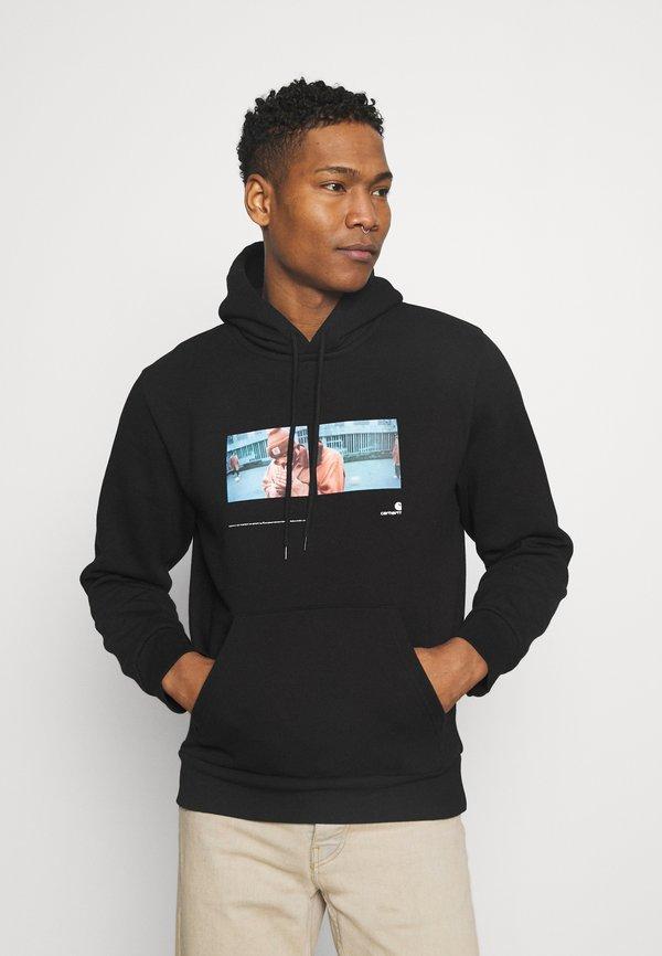 Carhartt WIP HOODED BACKYARD - Bluza - black/czarny Odzież Męska KWKH