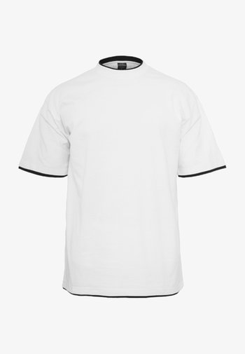 T-shirt - bas - white/black