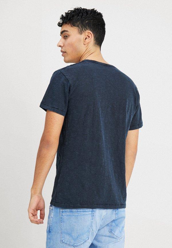 Pepe Jeans ESSENTIAL TEE - T-shirt z nadrukiem - 561indigo/granatowy Odzież Męska YDCC