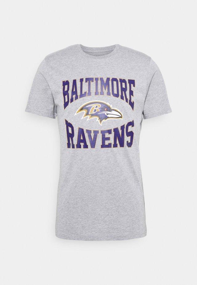 BALTIMOR RAVENS NFL TEAM LOGO TEE - T-shirt print - grey