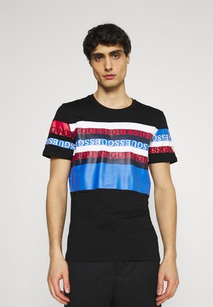 LOOP TEE - Print T-shirt - jet black/multi