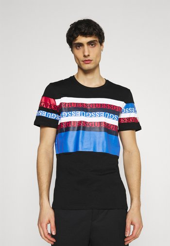 LOOP TEE - Print T-shirt - jet black/multi
