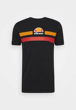 GLISENTA - Camiseta estampada - black