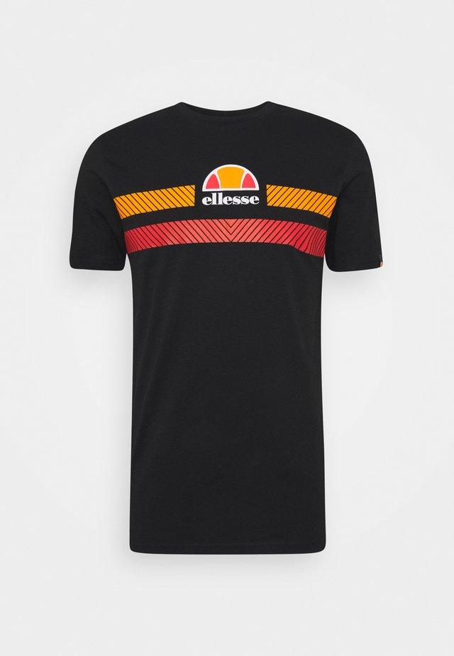 GLISENTA - T-shirt con stampa - black