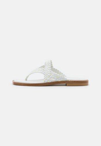 ROSIE FLAT  - T-bar sandals - white