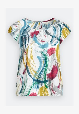 GARDEN GATE TOP II - Print T-shirt - blue