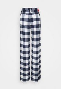 032c - CHECKMATE EVENING PANTS - Trousers - white/ blue - 1