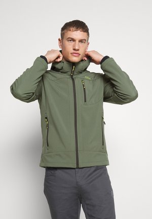 MAN JACKET ZIP HOOD - Giacca softshell - muschio