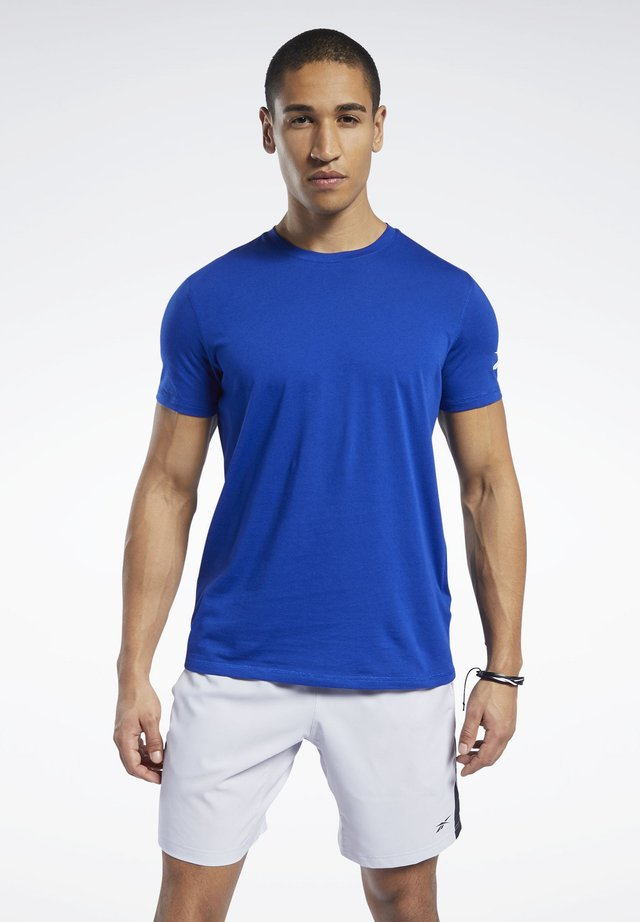 WORKOUT READY JERSEY TECH TEE - Print T-shirt - blue