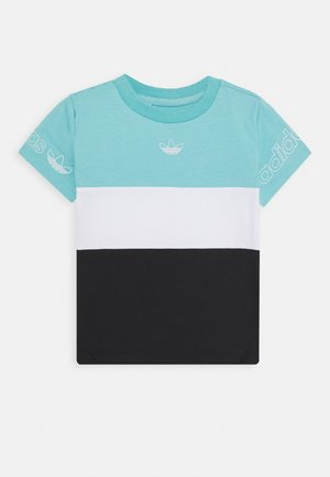 PANEL TEE - T-shirt med print - turquoise