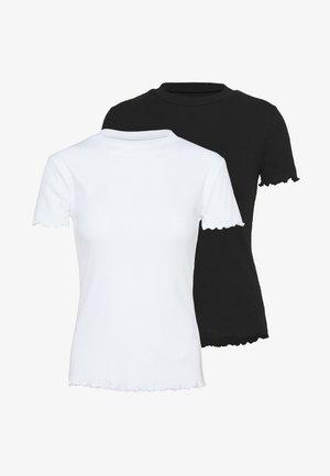 2 PACK - T-shirts basic - black/white