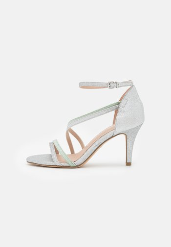 Sandals - silver/mint glamour