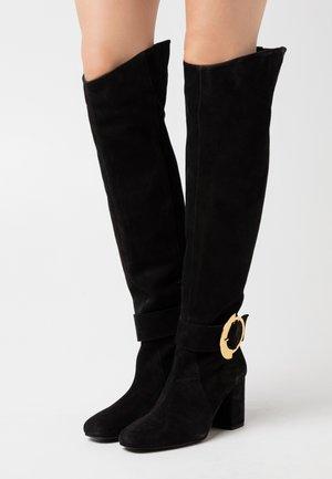 LAETITIA BOOT - Stivali sopra il ginocchio - nero limousine