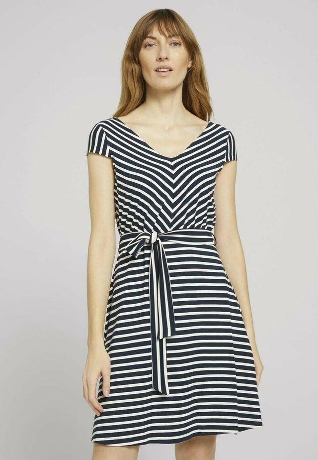 Korte jurk - navy stripe