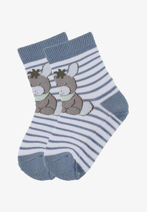 FLIESEN FLITZER ANTIRUTSCH SOCKEN MIT VOLLSOHLE EMMI - Socks - mittelblau