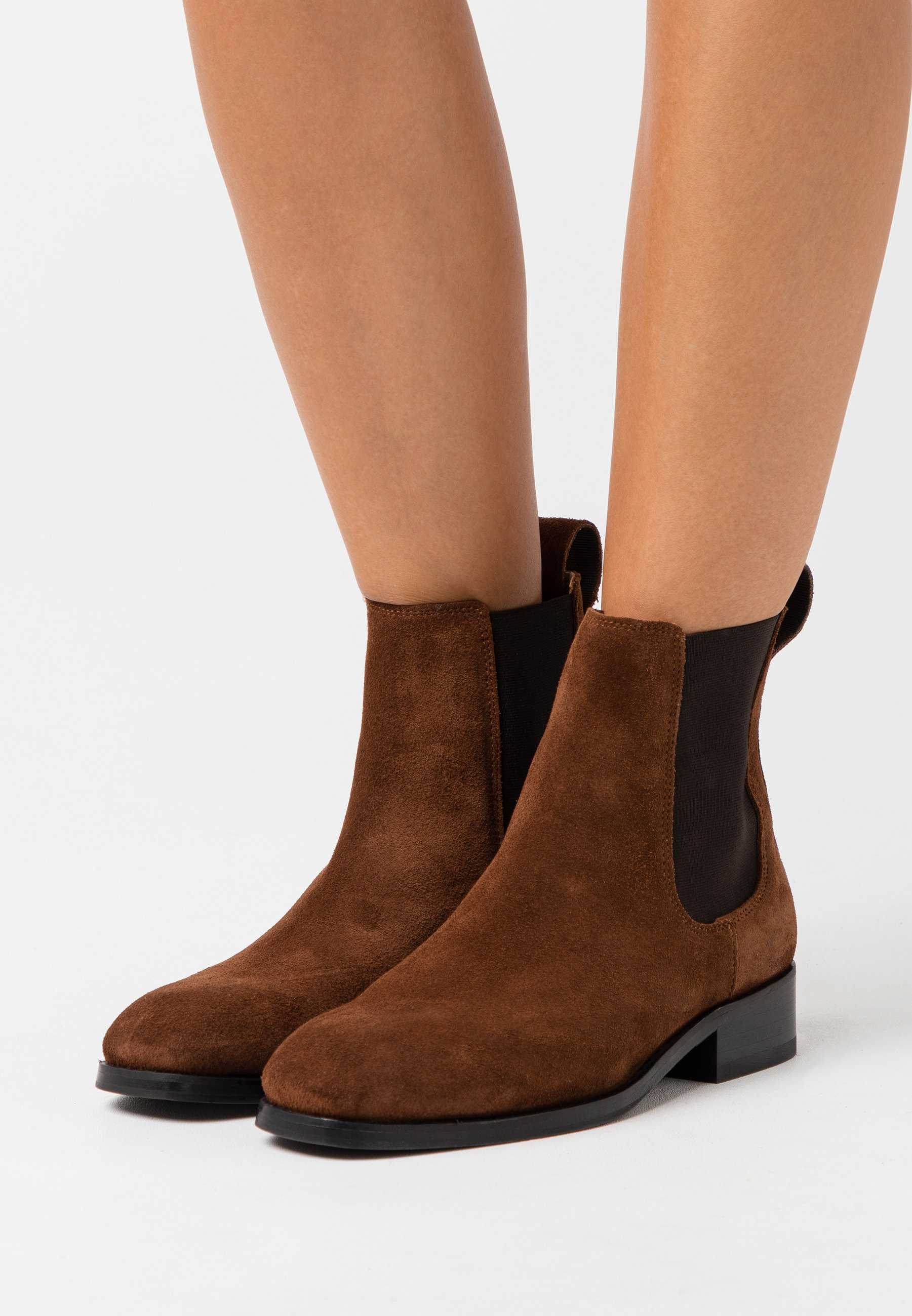 ELLARIA Korte laarzen dark brown