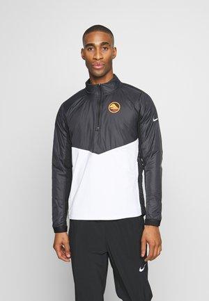Training jacket - black/white/silver
