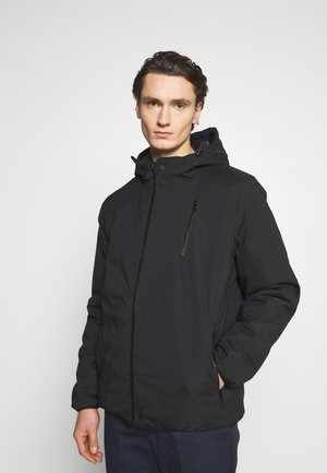 HOODED SPORTY ZIP JACKET - Winterjas - black