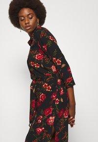 ONLY Tall - ONLNOVA LONG SHIRT DRESS - Košilové šaty - black - 4