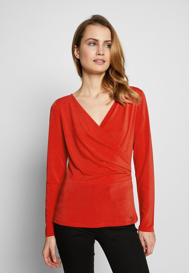 DRAPED - Blouse - red
