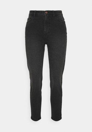 PCKESIA MOM - Jeans Tapered Fit - dark grey denim
