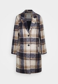 TOM TAILOR - EASY PLAID  - Classic coat - navy/sand - 4