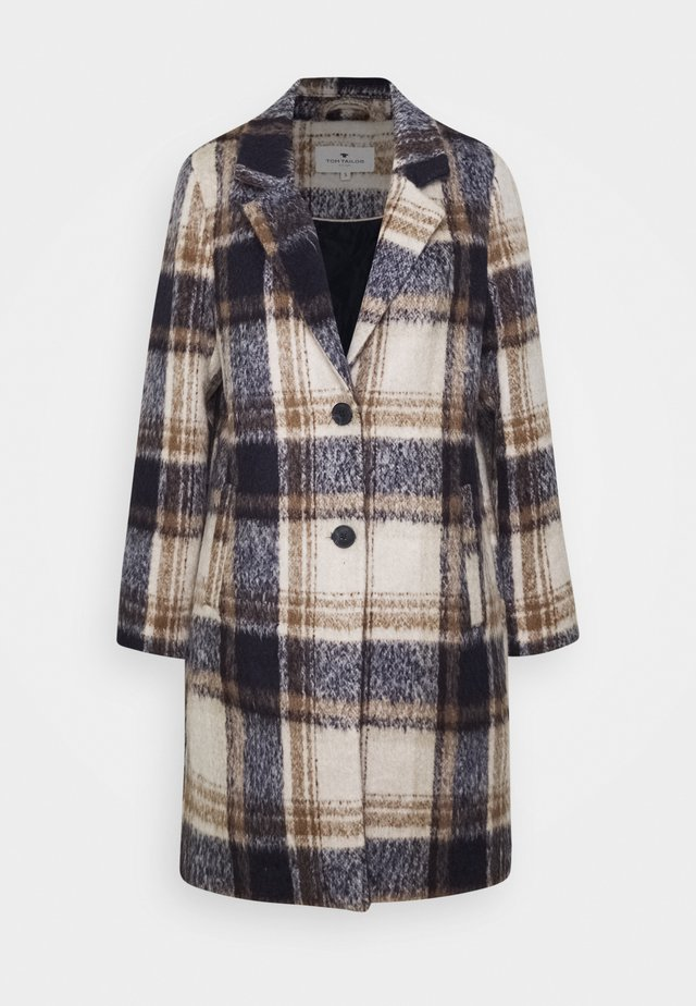 EASY PLAID  - Mantel - navy/sand