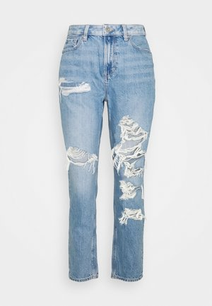 MOM - Slim fit jeans - worn out blue