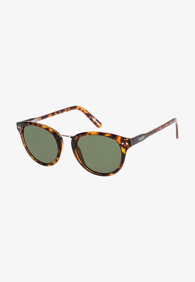 JUNIPERS  - Zonnebril - shiny tortoise brown / green