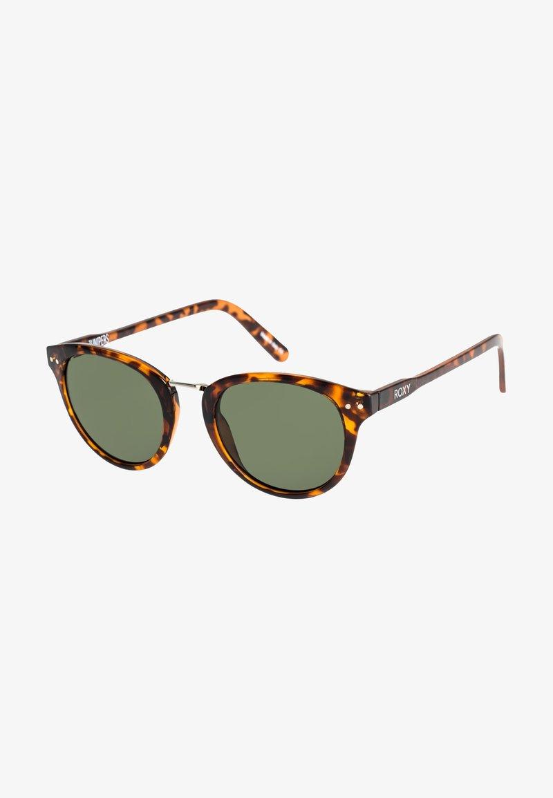 Roxy - JUNIPERS  - Sunglasses - shiny tortoise brown / green