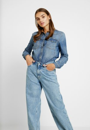 WESTERN - Button-down blouse - blue denim
