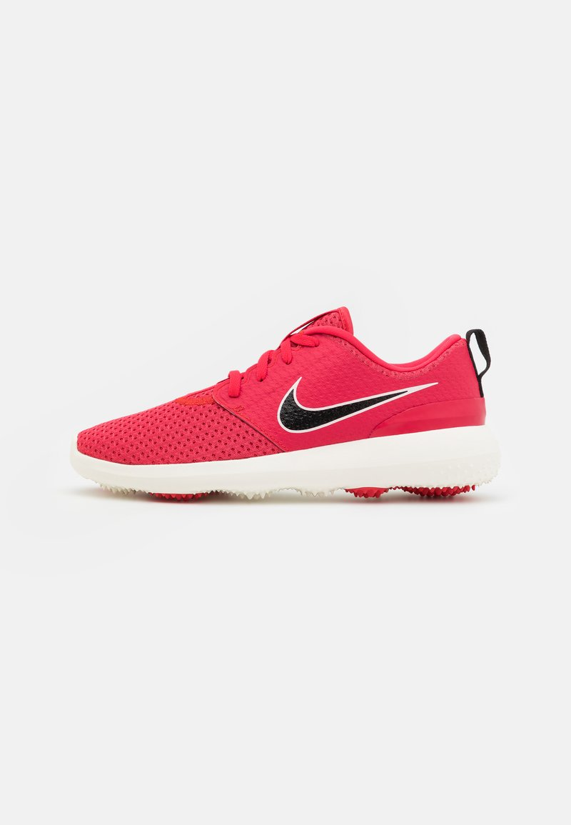 Nike Golf - ROSHE - Golf shoes - fusion red/black/sail