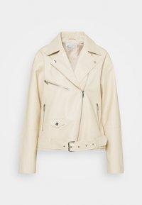 GRAND BIKER  - Faux leather jacket - beige