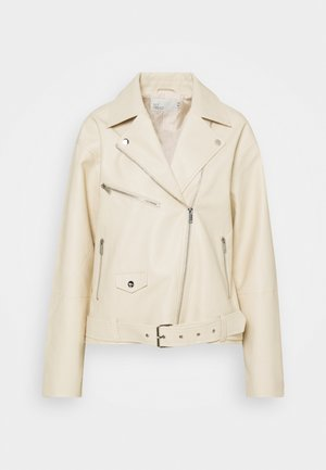 GRAND BIKER  - Faux leather jacket - beige