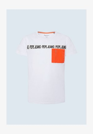 T-shirt con stampa - optic weiss