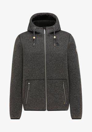 Zip-up hoodie - dunkelgrau melange