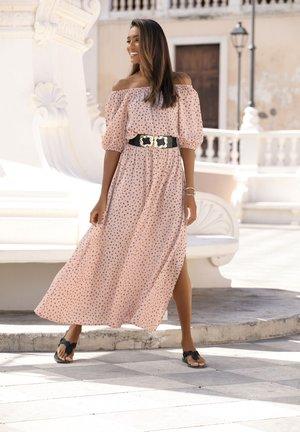 Day dress - sand-taupe-bedruckt