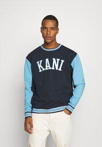 Karl Kani - COLLEGE BLOCK CREW - Sweatshirt - navy - 0