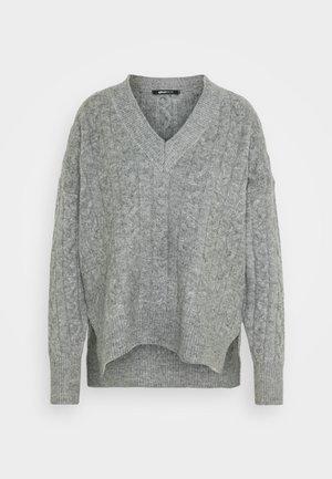LILIAN - Strikkegenser - grey melange